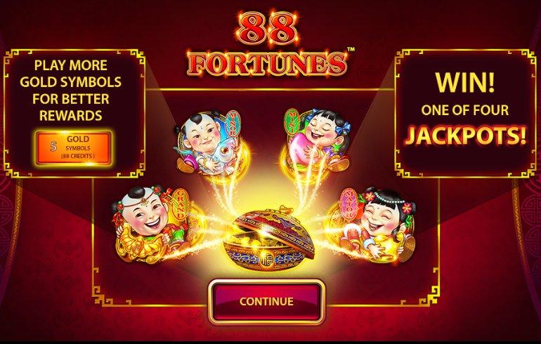 88 fortunes game start