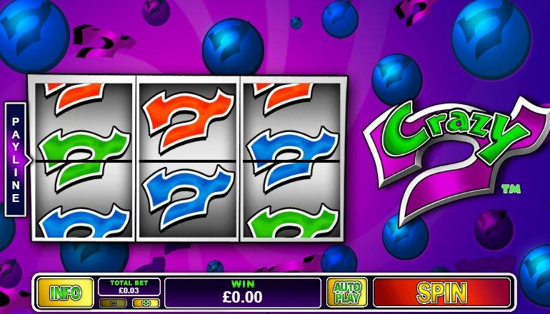 crazy 7 slot interface