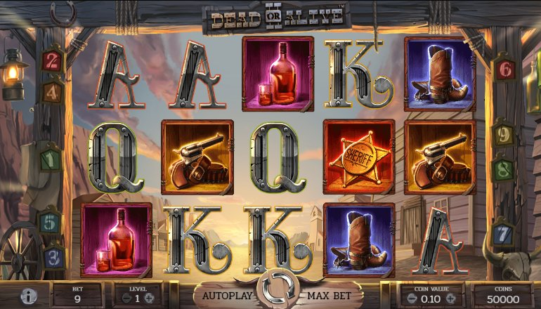 dead or alive slot interface