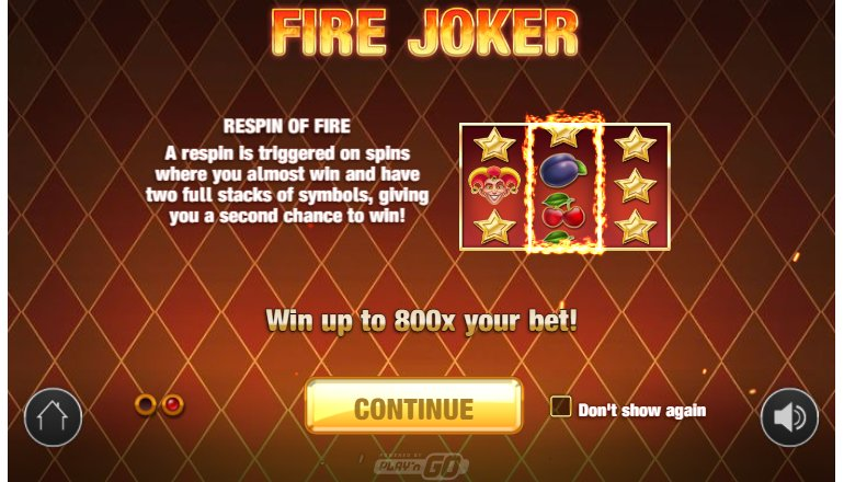 fire joker respin of fire