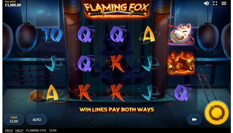 gameplay flaming fox slot machine