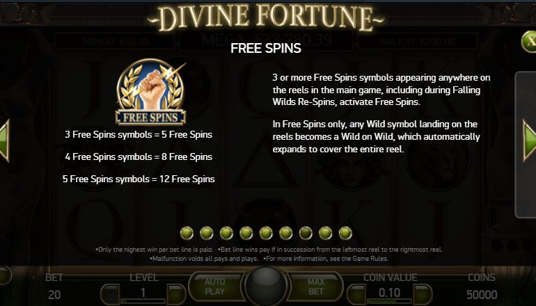 free spins fortune