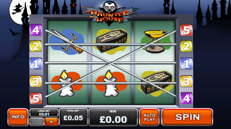 check haunted house video slot gameplay