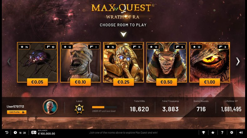 max quest slot paytable