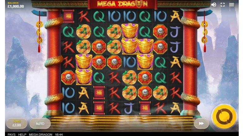 mega dragon slot gameplay