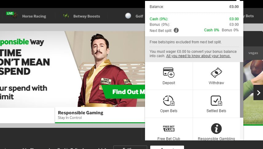 user interface betway