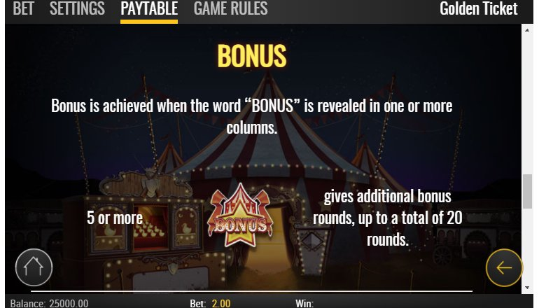 bonus golden ticket