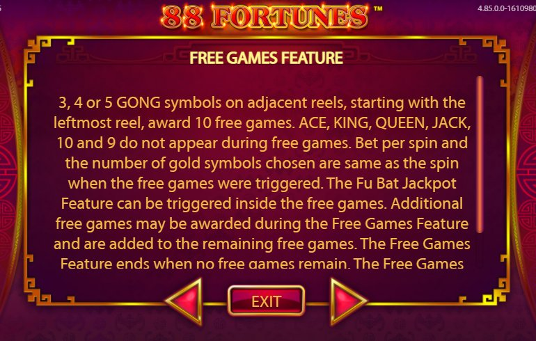 free games feature 88 fortunes