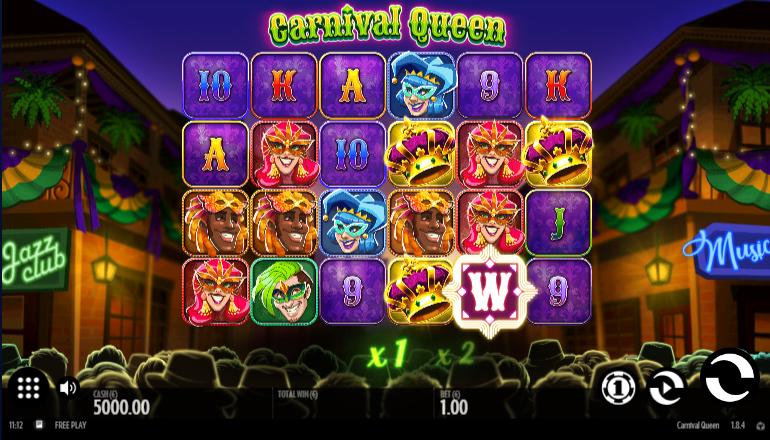 gameplay carnival queen slot