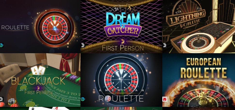 check a rich collection of table games at casino cruise