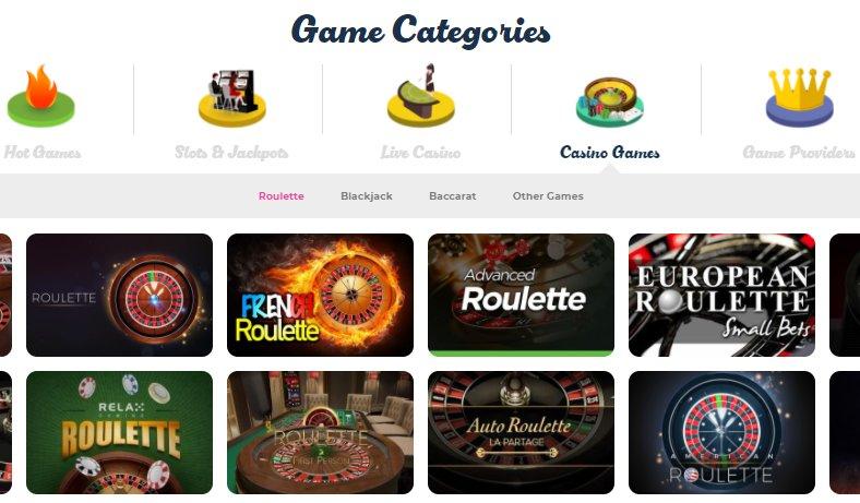 game lobby at casino joy