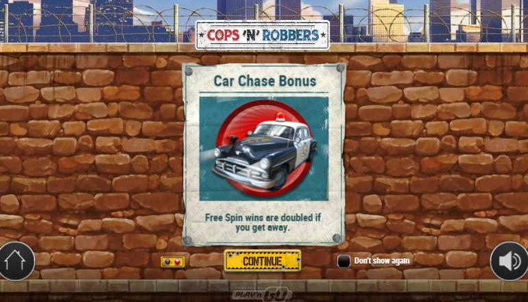 car chase bonus feature
