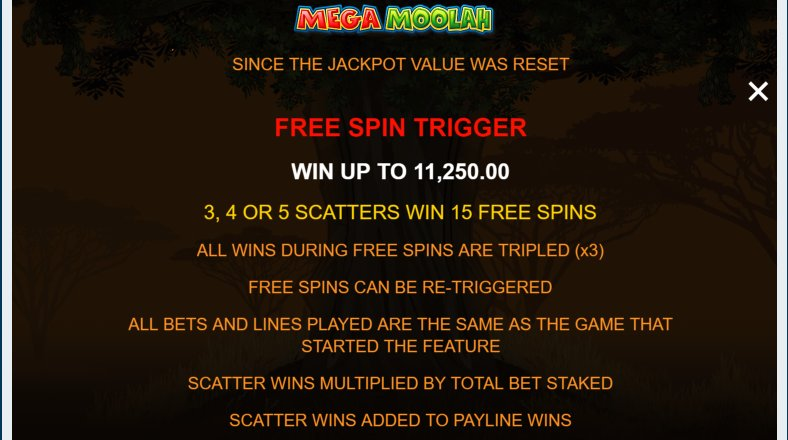 free spins mega moolah