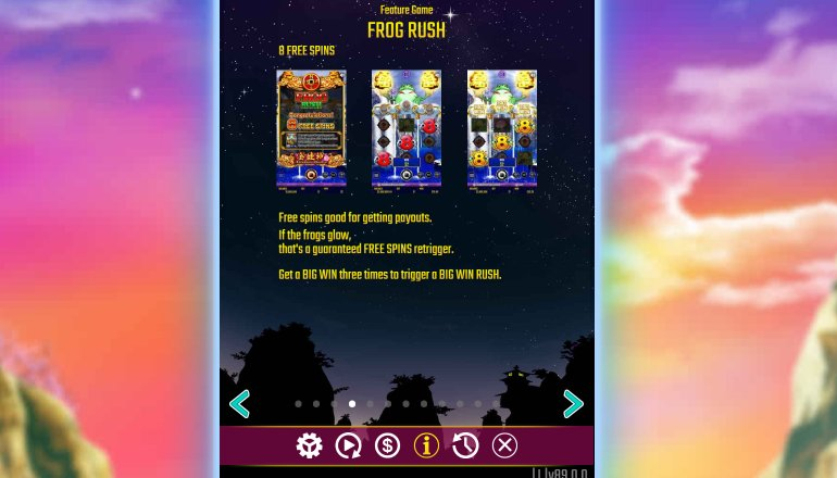 frog rush feature in dreams of gold slot