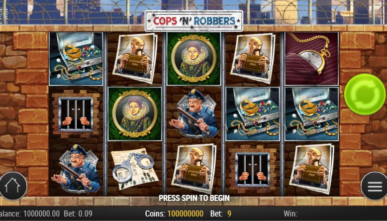 cops and robbers slot interface