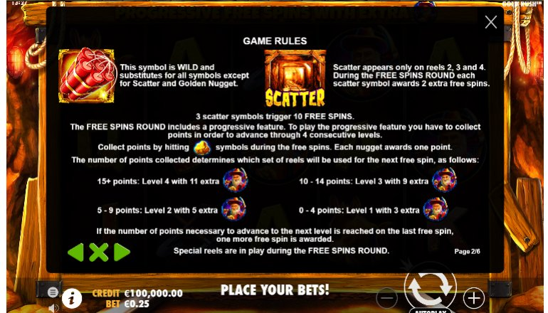 scatter feature gold rush