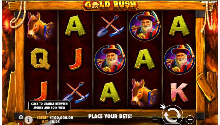 gold rush interface