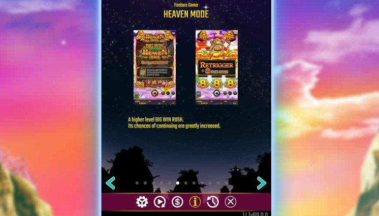 heaven mode in dreams of gold video slot