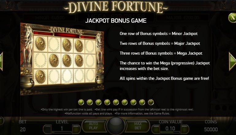 jackpot bonus game divine fortune