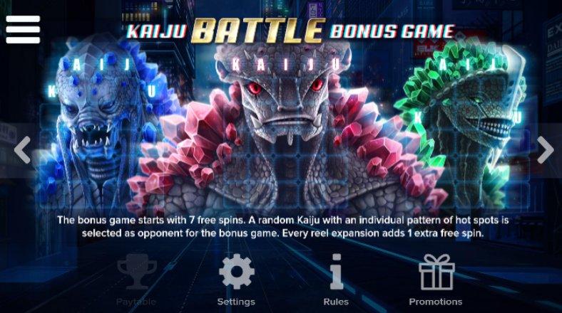 battle bonus game kaiju
