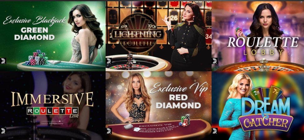 check collection of live games at casino cruise