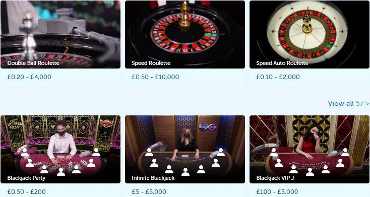 check live casino games at playfrank