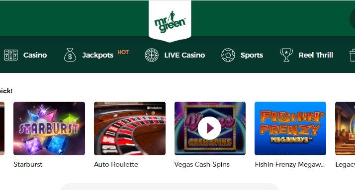 lobby mr green casino