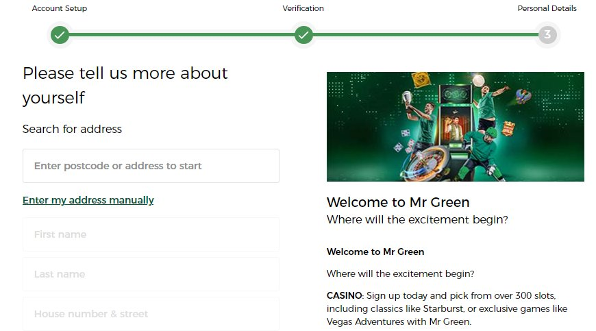 sign up 3 mr green