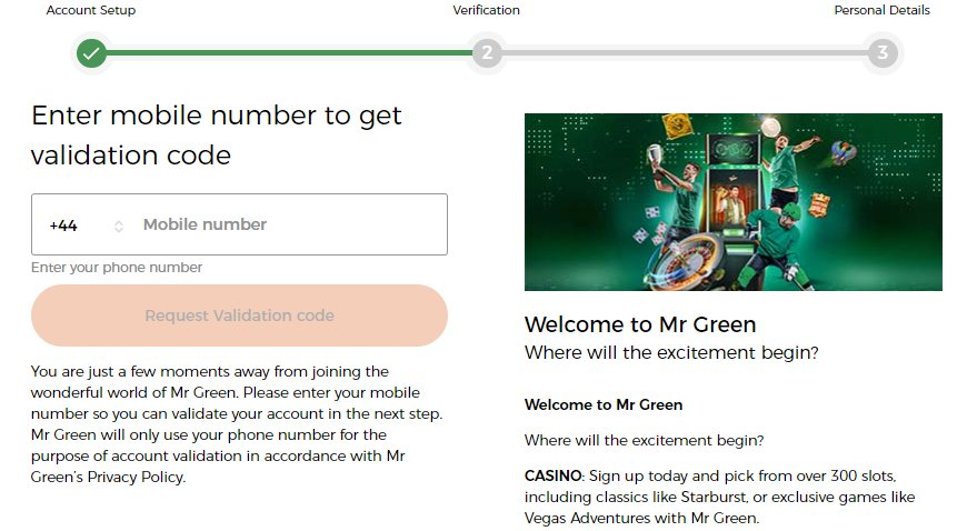 sign up 2 mr green