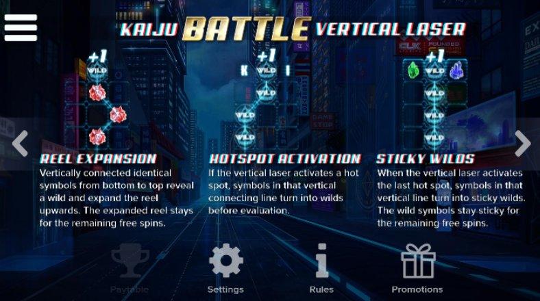 kaiju battle vertical laser
