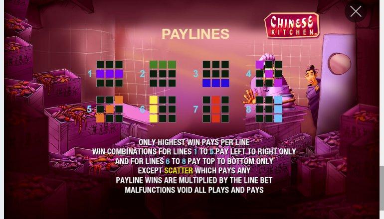 paylines chinese kitchen