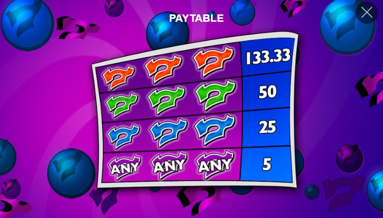 pay table crazy 7
