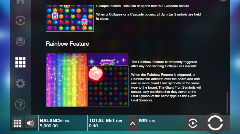 rainbow feature jammin jars