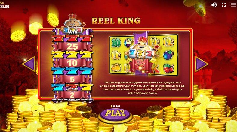reel king wins