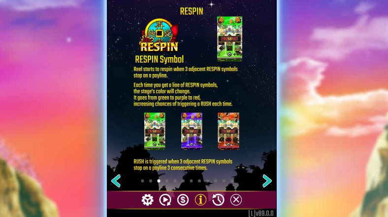 respin feature in dreams of gold slot machine