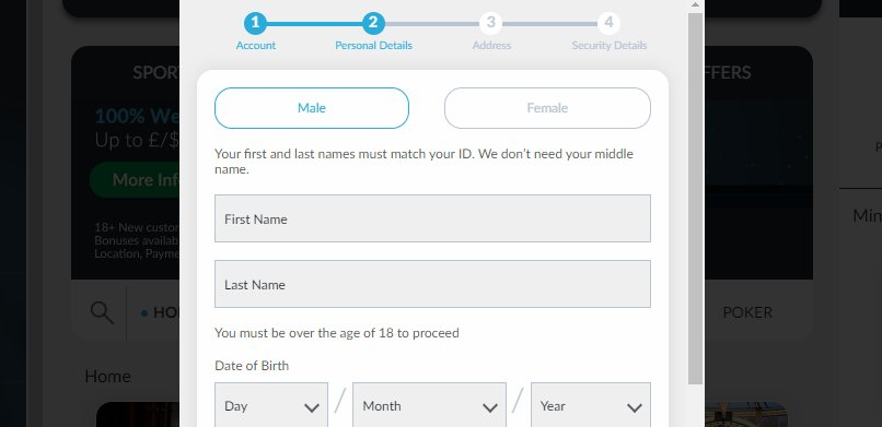 sign up 2 betvictor