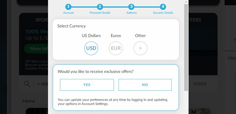 sign up 4 betvictor