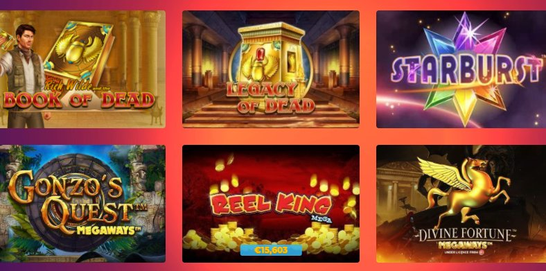 check a list of video slots at casino gods