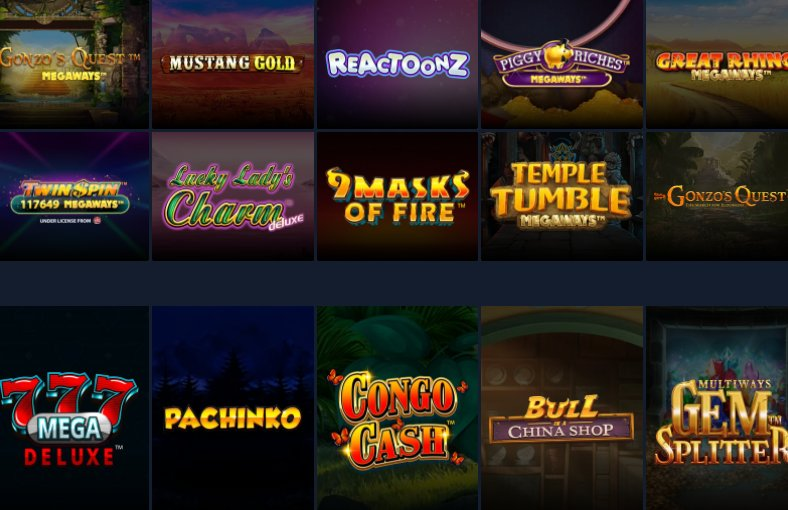 a list of slot games available at stsbet