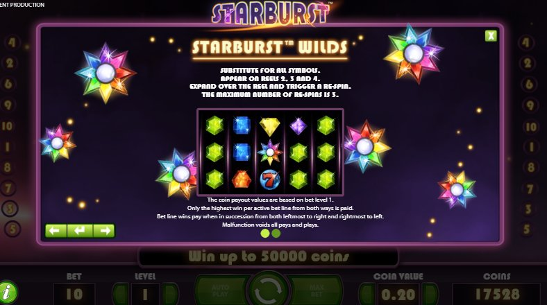 wild feature starburst