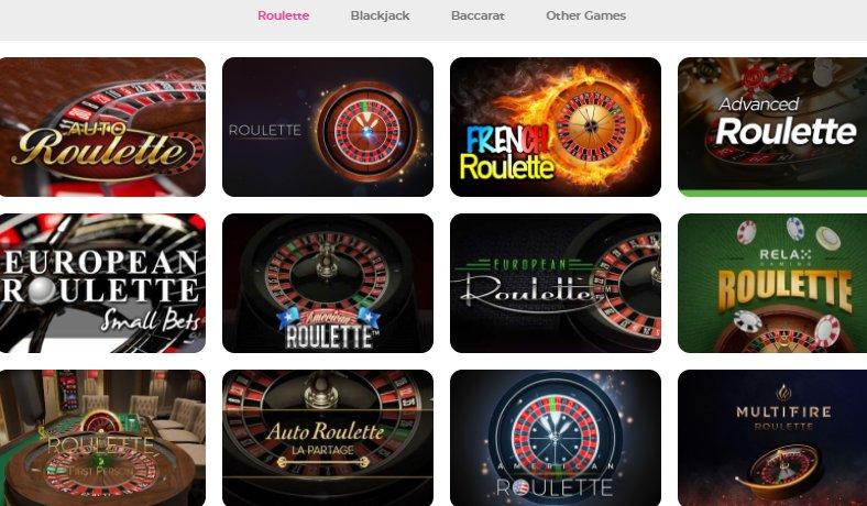 a list of table games at casino joy