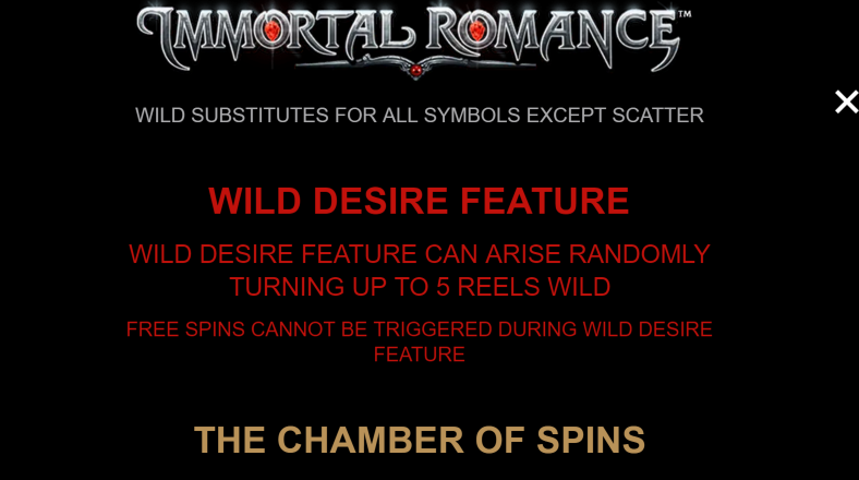 wild feature immortal romance