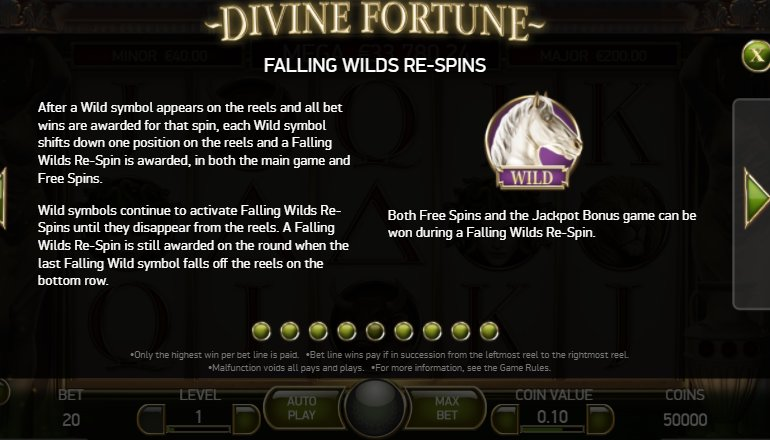 falling wilds divine fortune slot