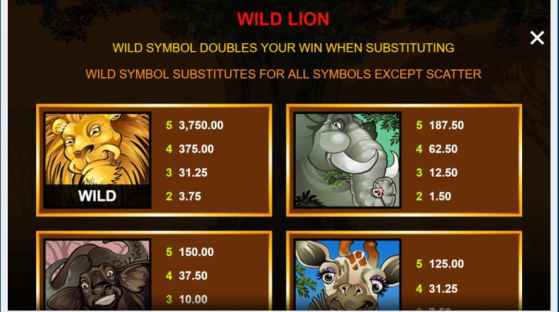 wild symbol mega moolah
