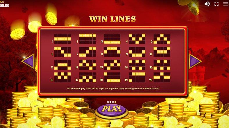 win lines reel king
