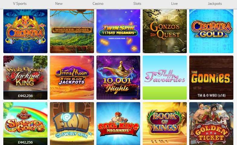 video slot collection at bgo