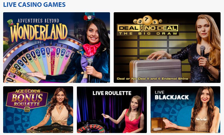 live casino games that are available at bgo