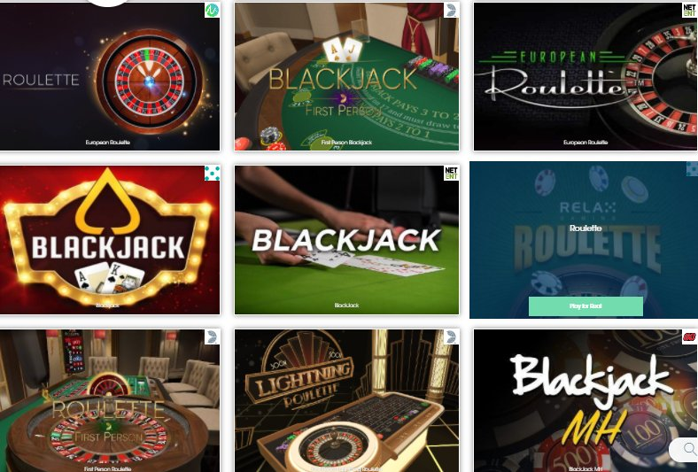 table games online