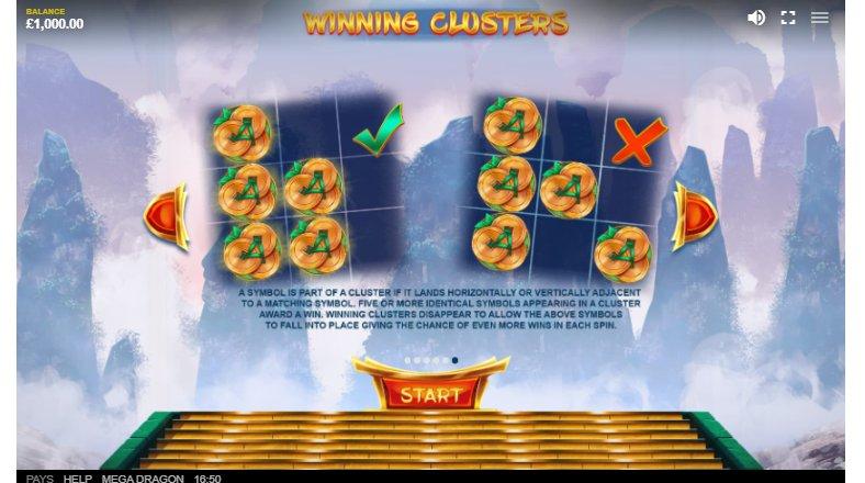winning cluster feature mega dragon