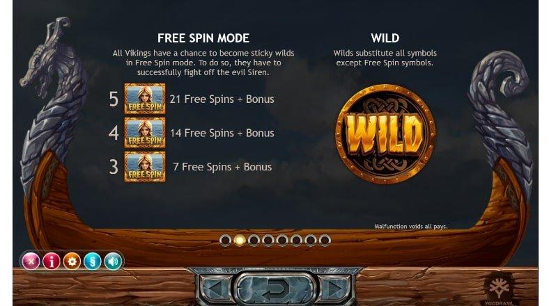 free spins and wild symbols in vikings go berzerk slot machine